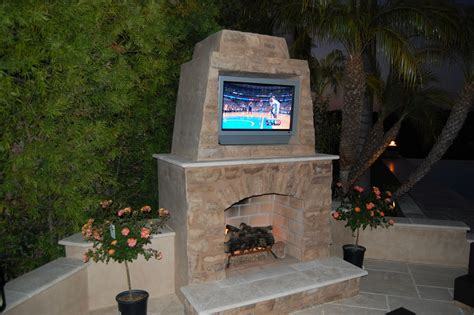 outdoor fireplace warming up exterior space traba