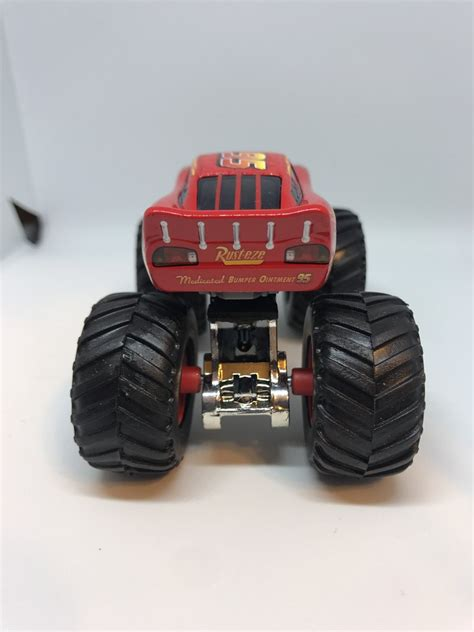 disney monster truck videos disney cars 1 55 custom monster truck lightning mcqueen
