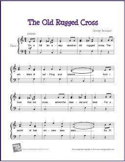 the rugged cross sheet violin the rugged cross free sheet for piano piano