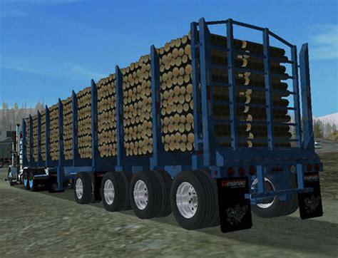 18 wos haulin mods trailer manac log trailer v2 for haulin simulator games mods