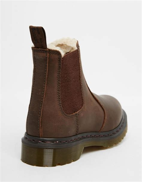 image 3 of dr martens leonore brown lined chelsea boots