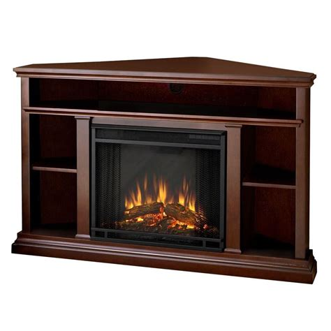 real churchill corner electric fireplace