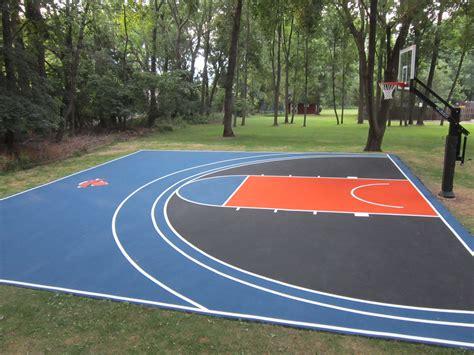 30 x 30 backyard basketball court in a world