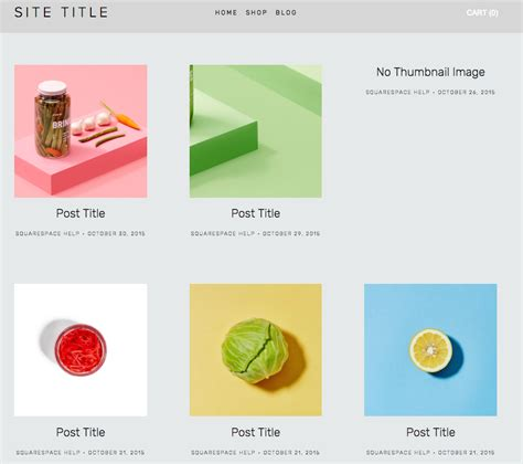 squarespace blog layout grid stacked blog pages squarespace help