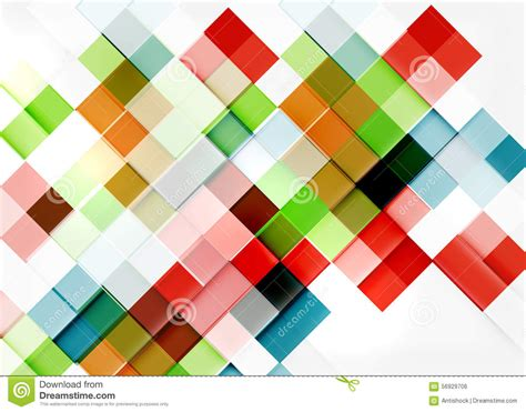 colorful background mosaic pattern design square shape mosaic pattern design universal stock vector
