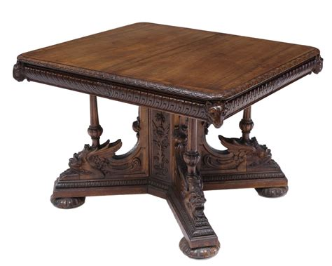 revival dining table renaissance revival carved walnut dining table may
