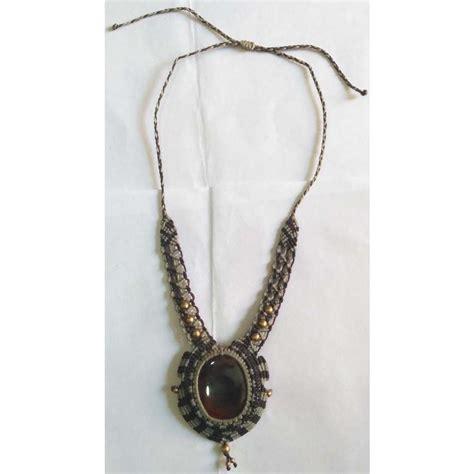 Micro Macrame - micro macrame necklace jewelry ihkm1756 ihandikart