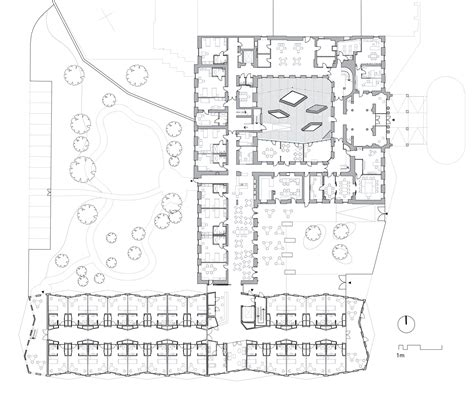 Nursing Home Floor Plan by Gallery Of Hainburg Nursing Home Christian Kronaus