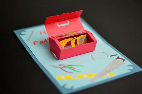 s day tool box card template toolbox pop up card template