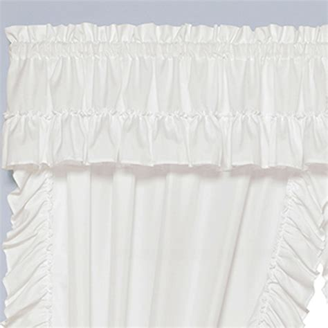 Ruffled Priscilla Curtains White Semi Sheer Ruffled Window Treatment