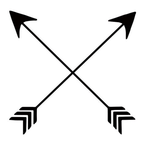 unique black crossed arrows temporary flash tattoo design