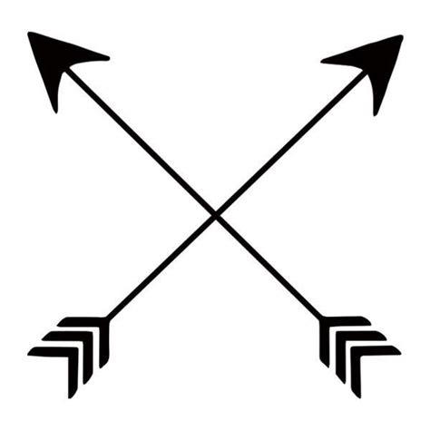 unique black crossed arrows temporary flash tattoo design