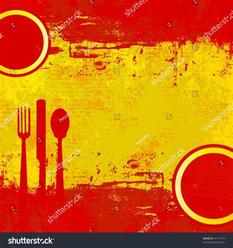spanish menu template over flag of spain stock photo
