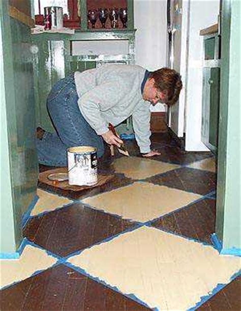 Painted Kitchen Floor Ideas by Ideas For Painting Wood Floors Old House Web
