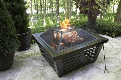 large wood burning pit pin by lowe s canada on in front of the