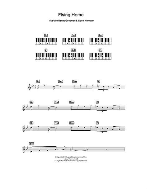 flying home sheet by benny goodman keyboard 49173