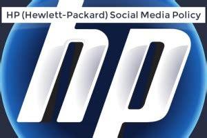 hewlett packard si鑒e social hp hewlett packard social media policy business