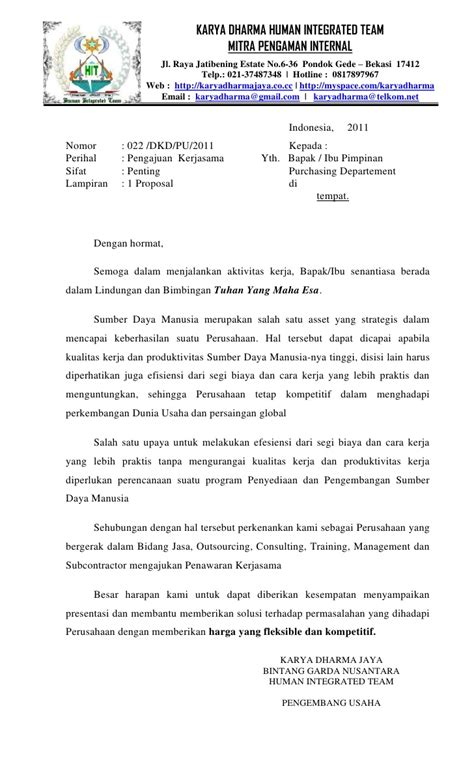 membuat proposal travel profile usaha karya dharma jaya