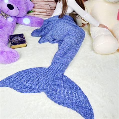Knitted Mermaid Blanket mermaid wool knitted blanket fish cover on storenvy