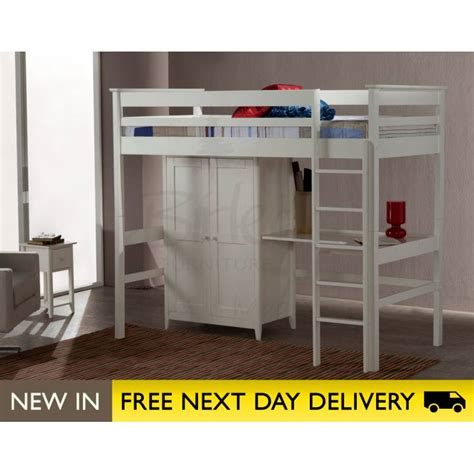 High Sleeper Beds by Cotswold Ivory High Sleeper 3ft Single Bed Cothisivr