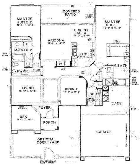 2 master suite house plans floor plans with 2 masters floor plans with two master
