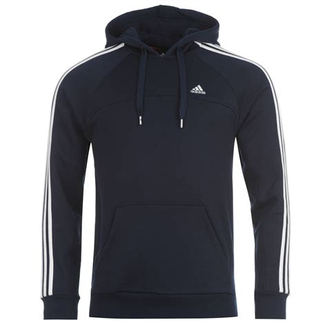 Sweater Adidas 3 Colors adidas 3 stripe hoody mens navy white sweater jumper ebay