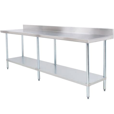 stainless steel work table thunder stainless steel work table 24 quot x 96 quot x 35 quot with