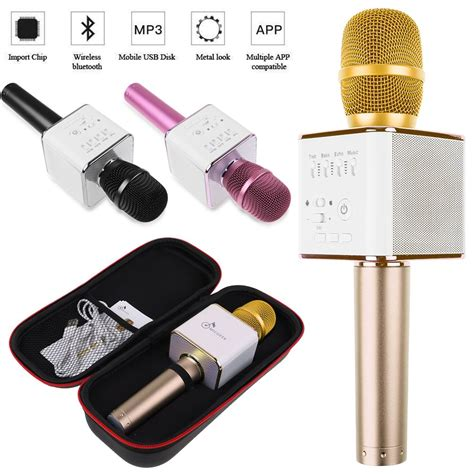 Mic Karaoke Ktv Q9 Bluetooth Wireless Microphone 2016 mic q9 wireless bluetooth mini ktv karaoke microphone speaker player mobile ebay