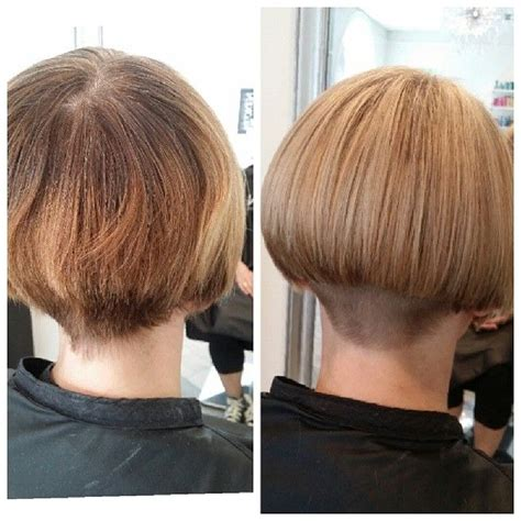 wedge haircut with a weight line 130 best hair before and after haircuts images on