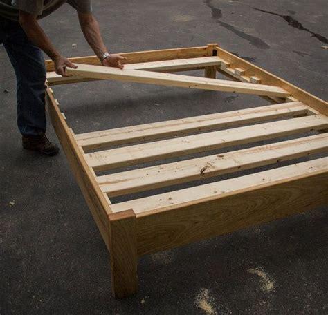 oak simple bed platform bed frame solid oak hardwoods