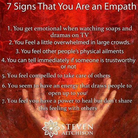 7 Signs He Might by 7 Signs You Might Be An Empath Being Myself