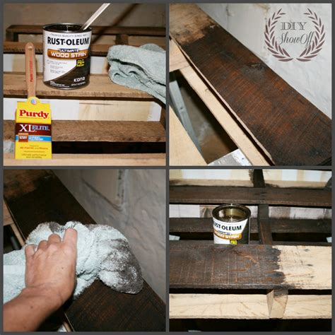 How To Stain A Shelf by Pallet Shelf Archives Diy Show Diy Decorating And Home Improvement Blogdiy Show