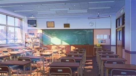 Wallpaper Anime Scenic, Classroom, Sunshine, Building