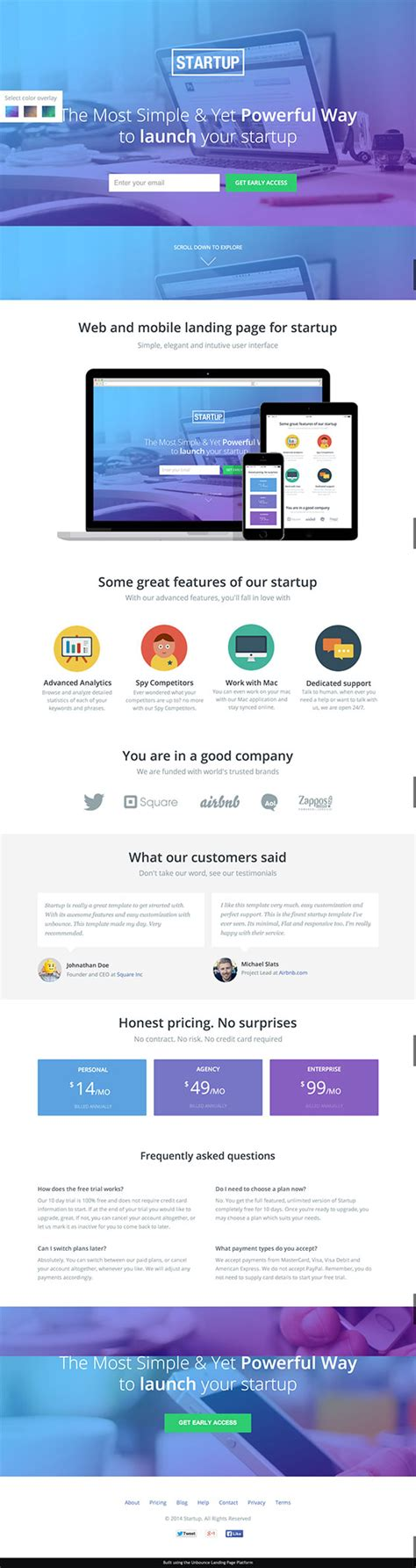 startup landing page template 12 beautiful landing page templates designed just for you