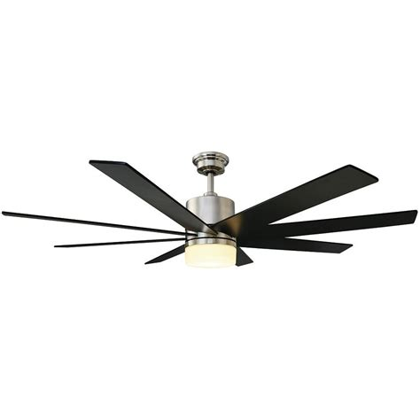 escape ii 60 in led brushed nickel ceiling fan home decorators collection brette 23 in led indoor