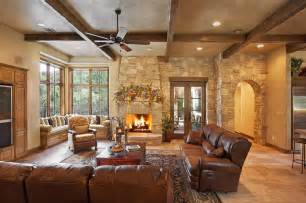 Texas hill country style rustic living room