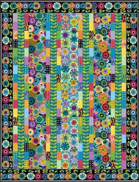 flower doodle quilt kit patterns