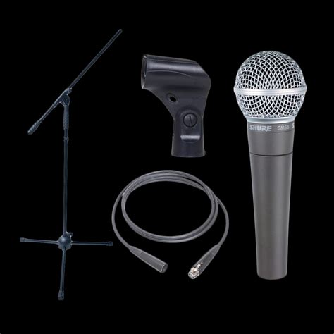 Mic Microphone Kabel Shure Sm 58 dynamic microphone bundle shure sm58 boom stand and xlr