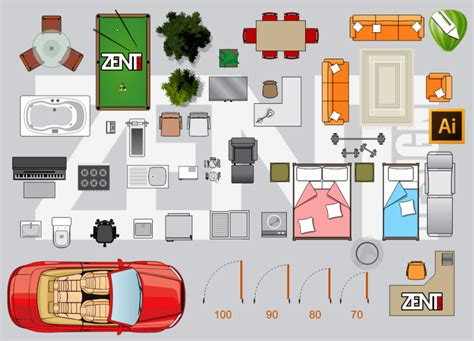 how to create a floor plan and furniture layout hgtv furniture floor plan vector premium zent design 2d
