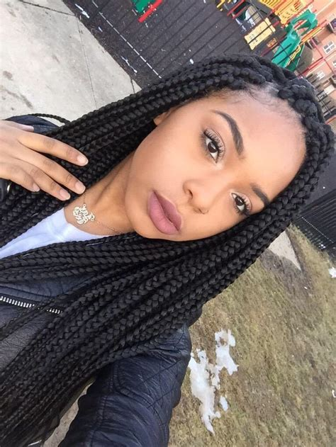 medium size box braids with a bang 17 best images about box braids on pinterest protective