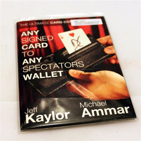 Any Card To Any Wallet any signed card to any spectators wallet by jeff kaylor
