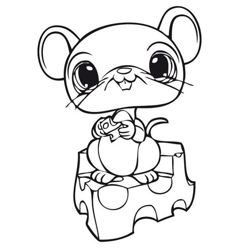 pet shop coloring pages printable series littlest pet