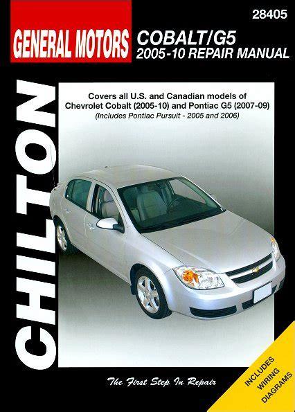 Chevy Cobalt Pontiac G5 Pursuit Repair Manual 2005 2010