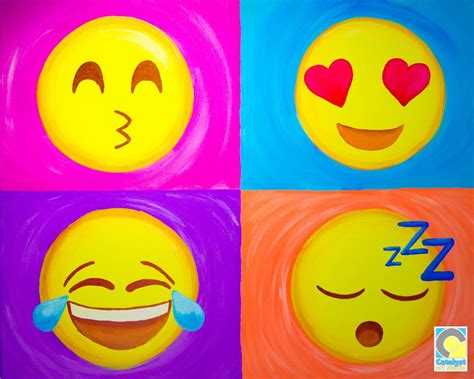 Painting Emoji by Emoji Sip And Paint After School Projects In