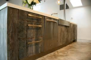 reclaimed wood cabinets for kitchen reclaiming wood for today s modern homes