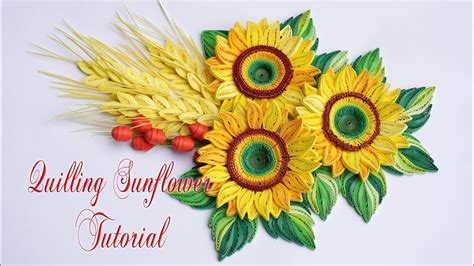 Quilling Sunflower Tutorial | quilling sunflower tutorial diy paper sunflower tutorial