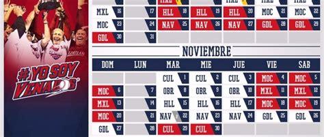 Calendario De Liga Mexicana Calendario Liga Mexicana De Beisbol 2016