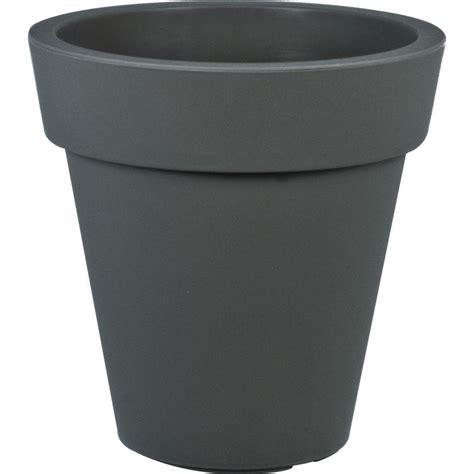 Grey Plastic Planters by Mela 18 In Dia Gray Plastic Planter 83410hd