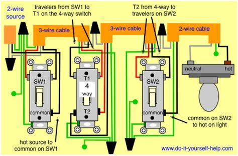 of 4 way switch wiring diagram free 4