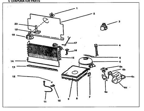 Evaporator Parts Diagram Amp Parts List For Model Duf1700wey